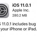 早くも修正版『iOS11.0.1』が公開されたので早速アップデートしました