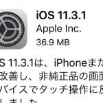 Apple『iOS11.3.1』を公開!セキュリティの改善と『iPhone8タッチ操作問題』にも対応