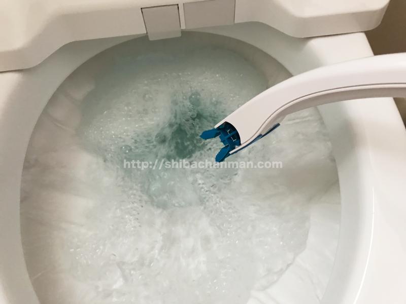 流せるトイレブラシ 掃除後