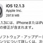 Apple、『iOS12.1.3』を公開!今回はほぼバグ修正メインでした