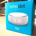 Echo Dot 第3世代『Echo Dot with clock』を買ってみたらセットアップが簡単すぎました!